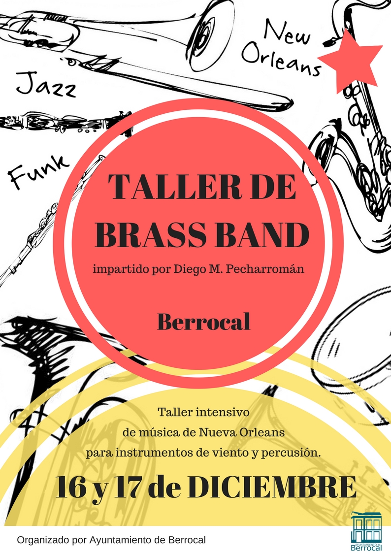 Cartel Berrocal - TALLER DE BRASS BAND